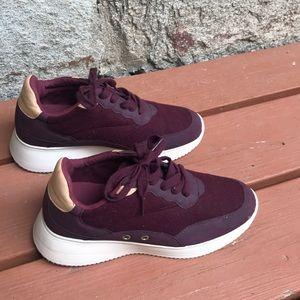 Zara basic sneakers wool maroon size 38 / 8